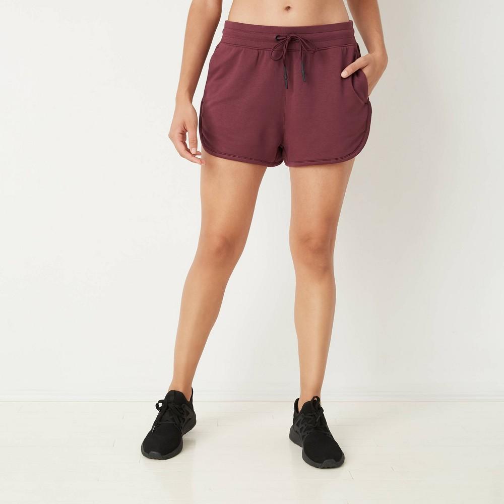 Women 39 S Mid Rise Cozy Shorts With Drawstring Joylab 8482 Port S