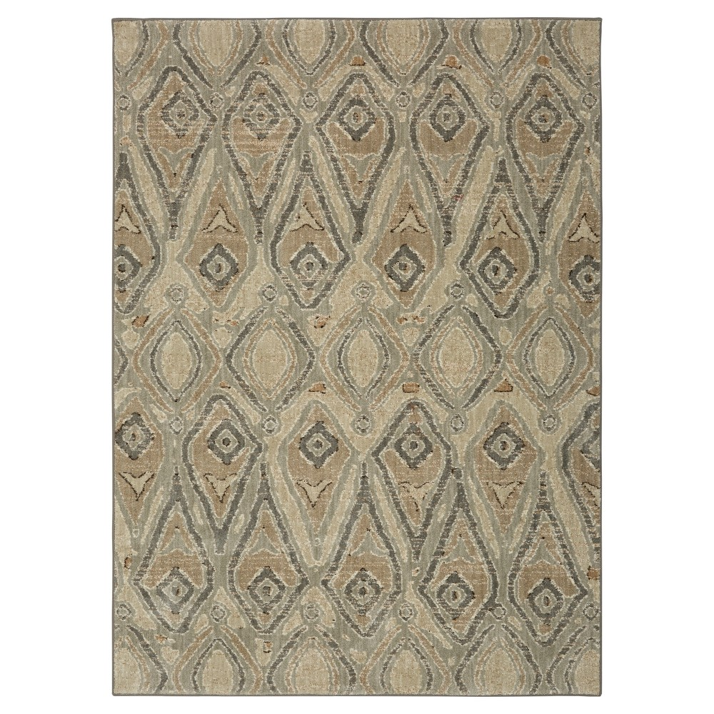 Gray Geometric Woven Area Rug 8'X11' - Karastan