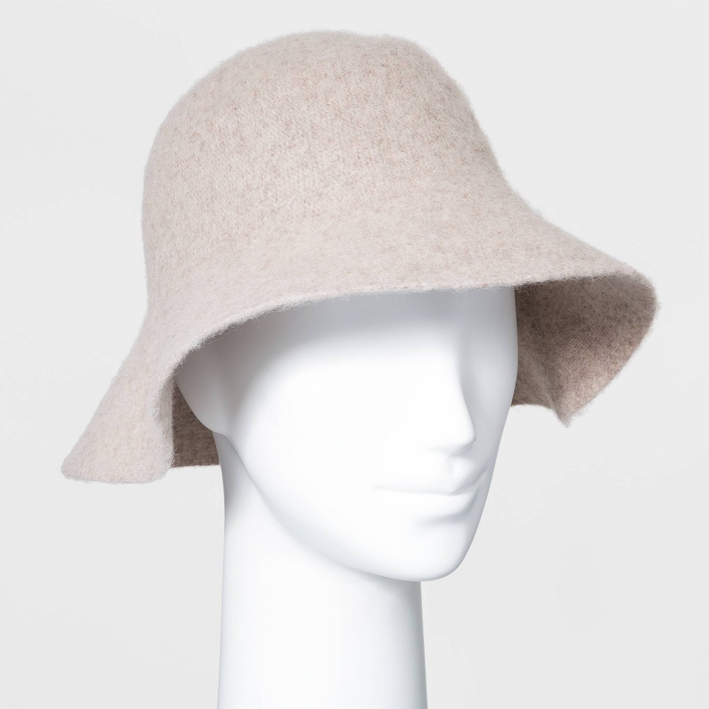 1950s Women's Hat Styles & History Womens Knit Bucket Hat - Universal Thread Oatmeal $15.00 AT vintagedancer.com