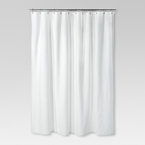 Solid Shower Curtain Cream - Threshold™ - image 1 of 1