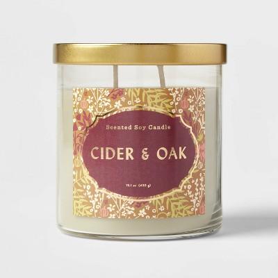 Lidded Glass Jar Cider and Oak Candle - Opalhouse™