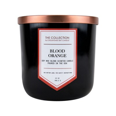 12oz Lidded Glass Jar 2-Wick Candle Blood Orange - The Collection By Chesapeake Bay Candle