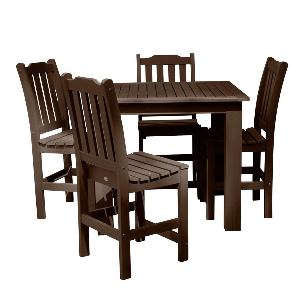 Lehigh 5pc Square Counter Dining Set Weathered Acorn - Highwood