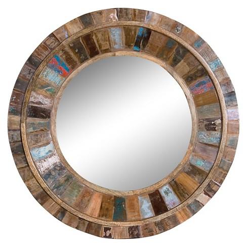 Round Decorative Wall Mirror Wood Finish Uttermost Target
