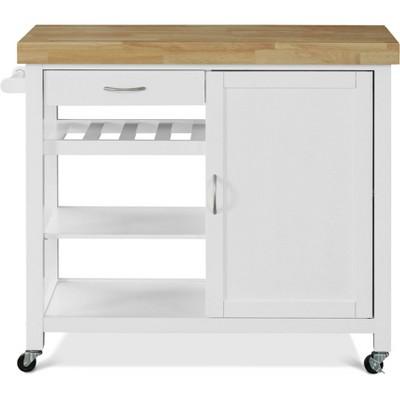 Denver Kitchen Cart White - Click Décor