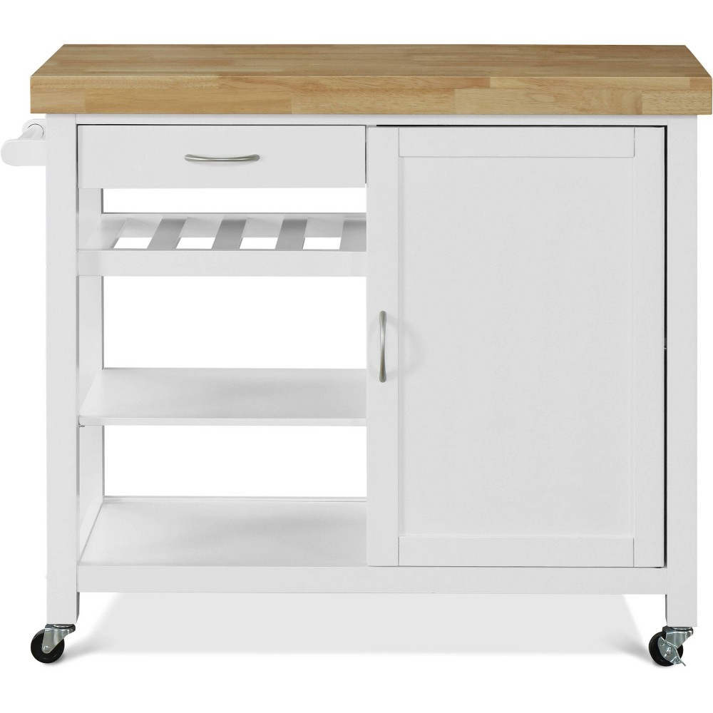 Image of Denver Kitchen Cart White - Click Décor