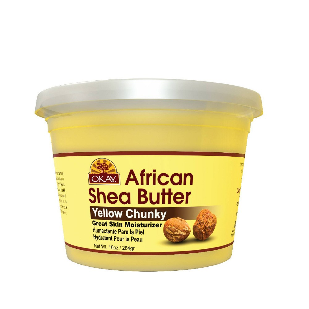 Image of Okay African Shea Butter - Yellow Chunky - 10oz