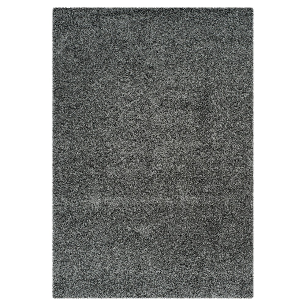 Dark Gray Solid Loomed Area Rug - (5'3