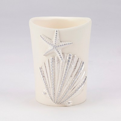 Sequin Shells Bathroom Tumbler Buttercup - Avanti®