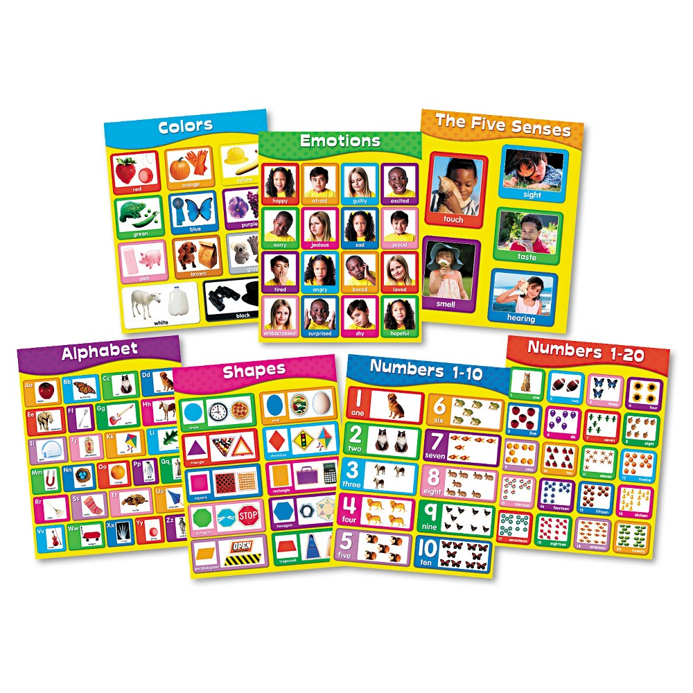 Carson-Dellosa Publishing Chartlet Set, Early Learning, 17 x 22, 1 set, Multi-Colored