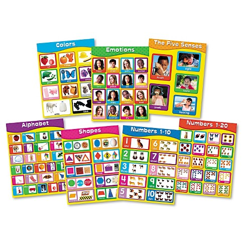 "Carson-Dellosa Publishing Chartlet Set, Early Learning, 17"" x 22"", 1 set - image 1 of 2"