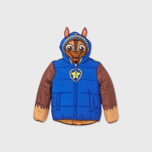 Boys' PAW Patrol Cosplay Hooded Puffer Jacket - Blue - image 1 of 2