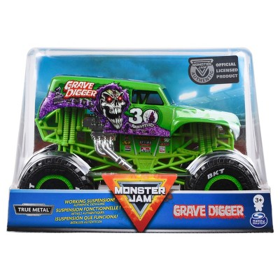 Monster Jam Official Grave Digger Monster Truck,Die-Cast Vehicle - 1:24 Scale
