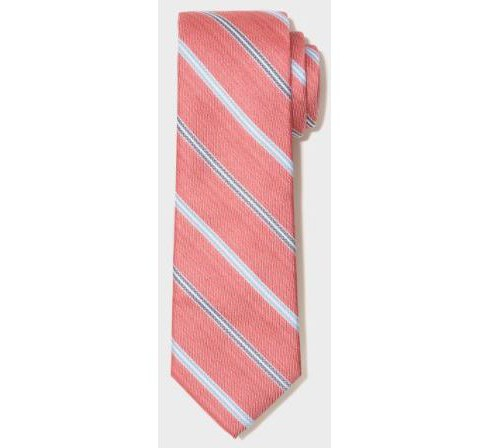 Men's Striped Brighton Neckties - Goodfellow & Co™ Berry One Size - image 1 of 1
