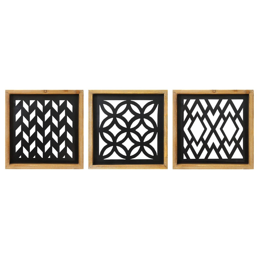 (Set of 3) Modern Wood and Metal Laser Cut Wall Decor - Stratton Home Decor (Set of 3) Modern Wood and Metal Laser Cut Wall Decor - Stratton Home Decor Color: MultiColored. Gender: unisex.