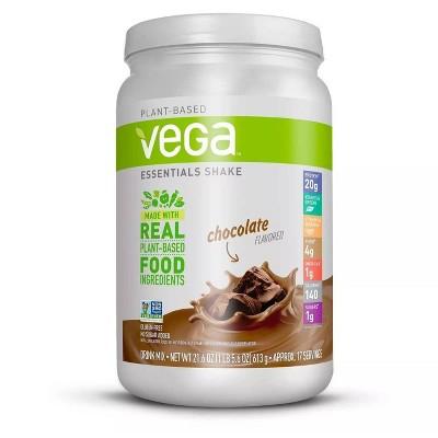 Vega Essentials Vegan Protein Powder Shake - Chocolate - 21.6oz