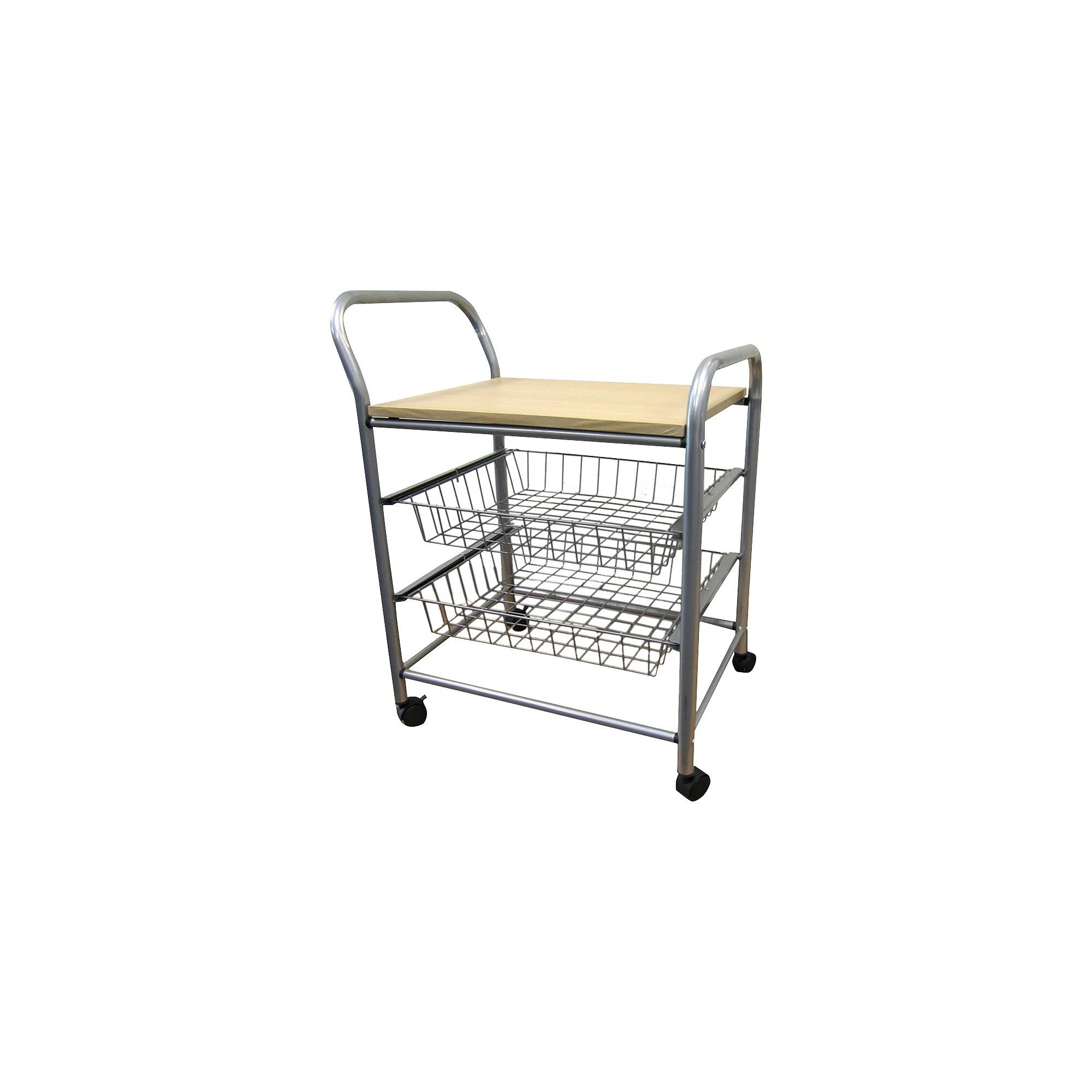 3 Tier Trolley Silver/Metal - Ore International