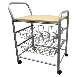 3 Tier Trolley Silver/Metal - Ore International