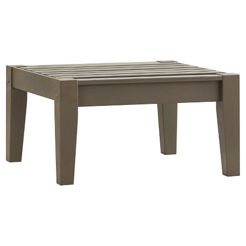 Parkview Wood Patio Ottoman - Inspire Q - image 1 of 3
