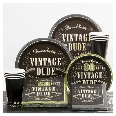 Vintage Dude 60th Birthday Party Supplies Collection