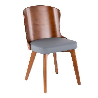 Bocello Mid-Century Modern Chair Gray/Walnut - LumiSource