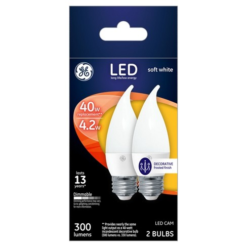 General Electric 2pk CAM LED 40W Soft White - image 1 of 2