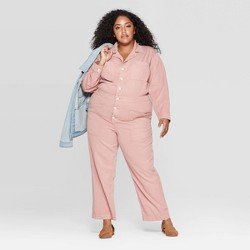 Women's Plus Size Long Sleeve Collared Boiler Jumpsuit - Universal Thread™