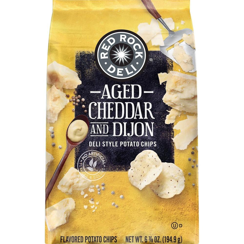 Red Rock Deli Aged Cheddar & Dijon Deli-Style Potato Chips - 6.875oz