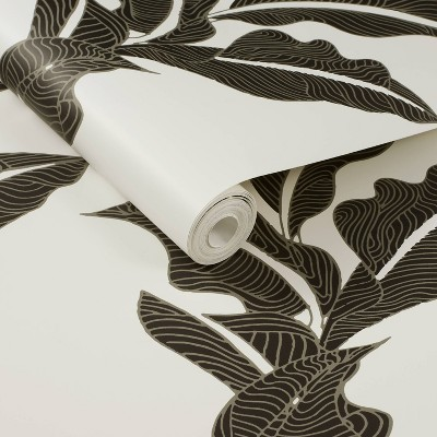 Botanical Leaf Peel and Stick Wallpaper Black/White - Opalhouse™ designed with Jungalow™