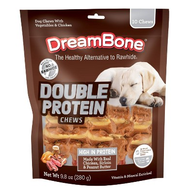 DreamBone Double Protein with Peanut Butter Kabobs Chews Dog Treats - 9.8oz