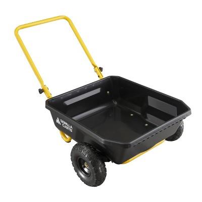 Gorilla Carts GCR-4 Poly Yard Cart Black