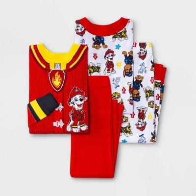 Toddler Boys' 4pc PAW Patrol Snug Fit Pajama Set - Red