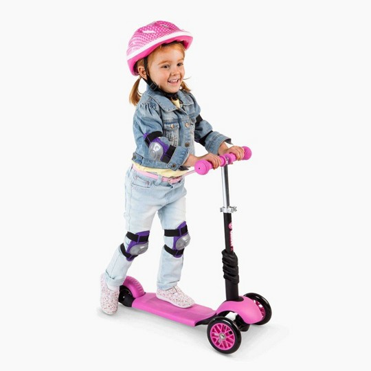 Yvolution Y Glider 3-in-1 Scooter with Removable Seat - Pink image number null
