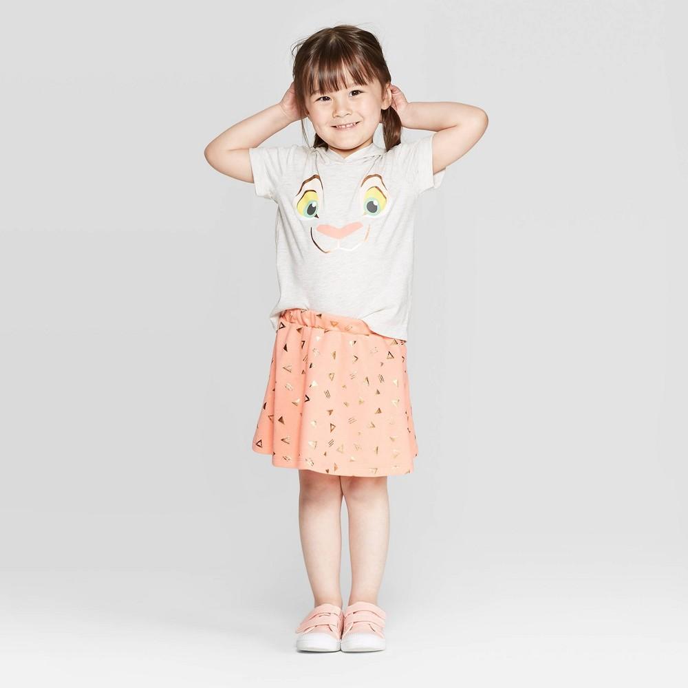 Best Shopping Toddler Girls Disney Nala Hoodie And Skirt Set Cream 2T Beige