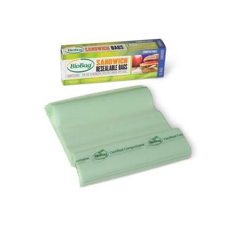 BioBag® Sandwich Food Storage Bags, Pack of 25 - BioBag America Inc - image 1 of 1