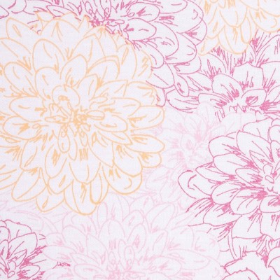 Burt's Bees Baby®Organic Fitted Crib Sheet - Peach Floral