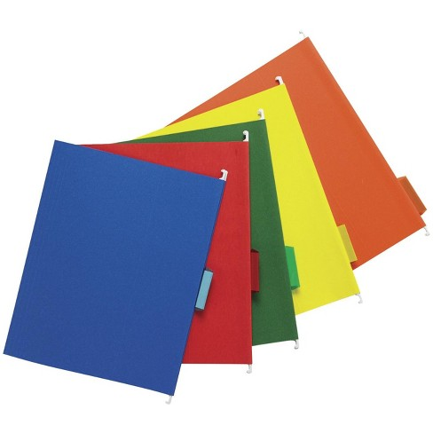 School Smart Mediumweight 1/5 Cut Colored Hanging File Folder, Letter, Assorted Colors, pk of 25 - image 1 of 5