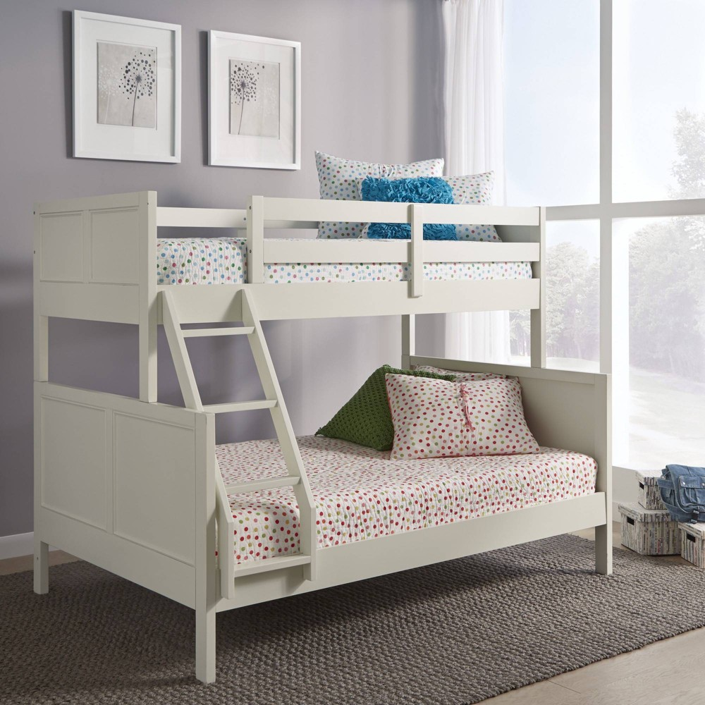 Twin Over Full Naples Bunk Bed Off-White (Beige) - Home Styles