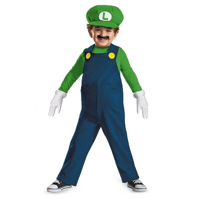 Toddler Luigi Halloween Costume 3T-4T