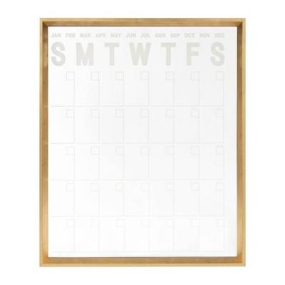 "26"" x 32"" Calter Dry Erase Acrylic Calendar Gold - Kate and Laurel"