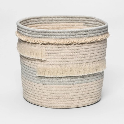 Medium Coiled Rope Toy Storage Gray - Pillowfort™