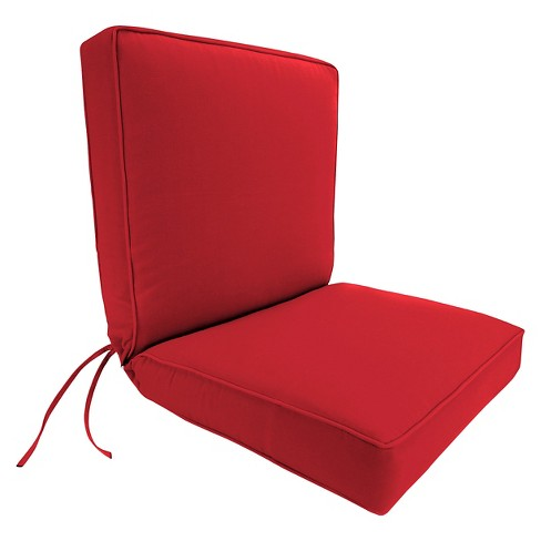 Jordan Boxed Edge Chair Cushion - Cherry - image 1 of 1