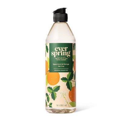 Spearmint & Orange Liquid Dish Soap - 18 fl oz - Everspring™