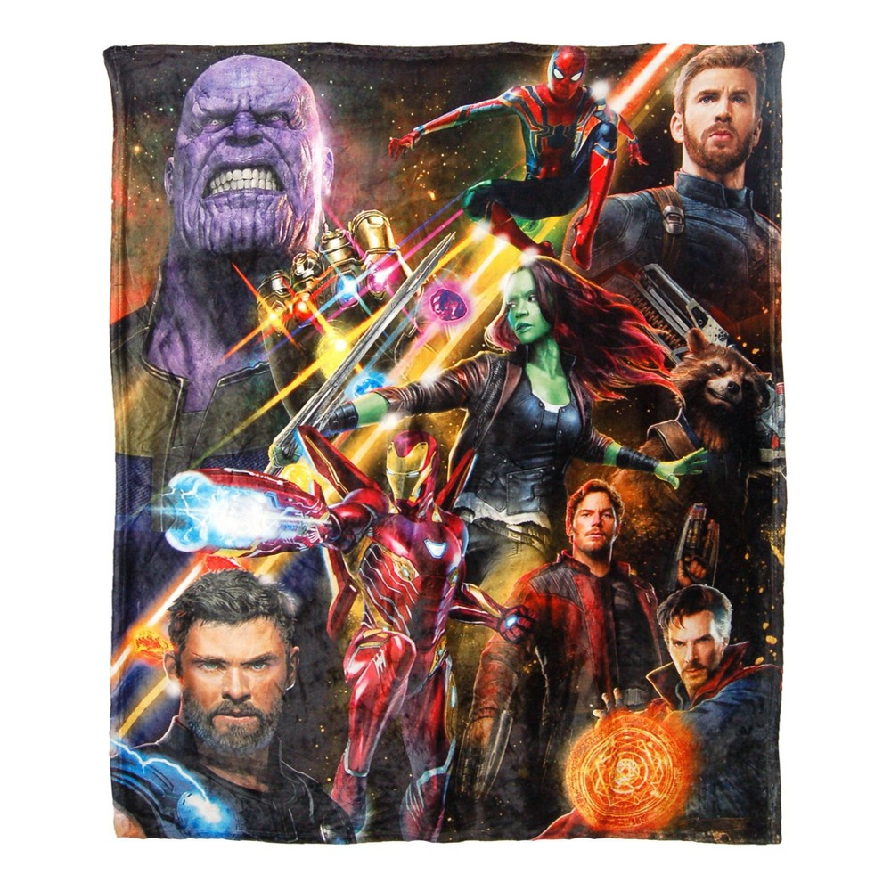 Image of Avengers Infinity Wars Team Infinity Silk Touch Throw
