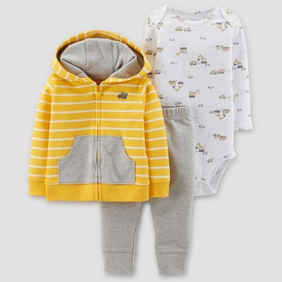 Baby Boys' Construction 3pc Set - Just One You® made by carter's Yellow/Gray Newborn