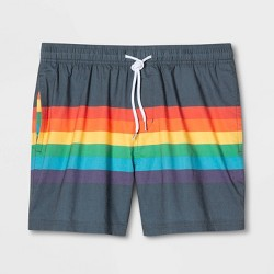 094bfcbd8a Pride Evolve By 2(X)IST Woven Swim Shorts - Wave Print : Target