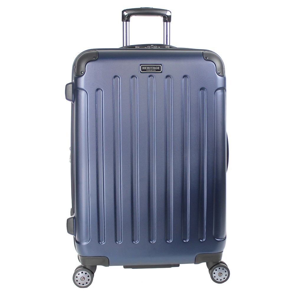 "Image of ""Heritage Logan Square 25"""" Polycarbonate & ABS Blend Lightweight Expandable Suitcase - Navy, Blue"""