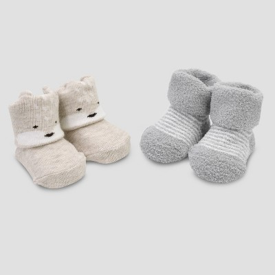 Baby Boys' 2pk Folded Cuff Keepsake Fox - Just One You® made by carter's Gray/Tan Newborn