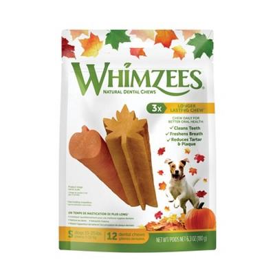 Whimzees Fall Small Dental Dog Treats - 6.3oz