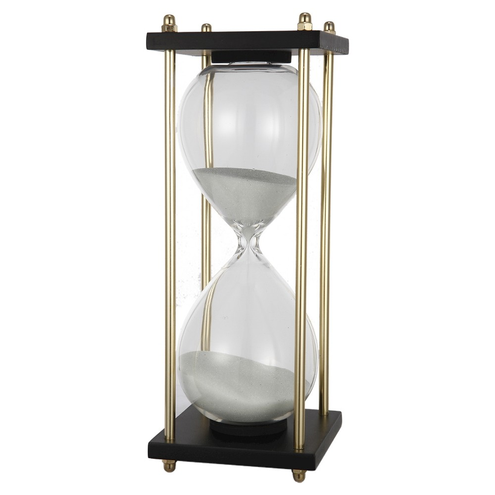Image of A&b Home Hour Glass In Stand (4X4X9), White
